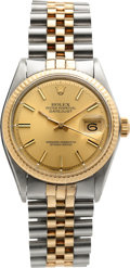 Timepieces:Wristwatch, Rolex Ref. 1601 Two Tone Gent's Datejust, circa 1968. ...
