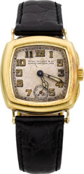 Timepieces:Wristwatch, Patek Philippe & Co. Rare Early Gold Wristwatch, circa 1925....
