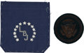 Political:Presidential Relics, Embroidered Presidential Seal and Embroidered LBJ Monogrammed Pocket.... (Total: 2 Items)