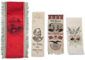 Political:Ribbons & Badges, Grover Cleveland: Four Campaign Ribbons.... (Total: 4 Items)
