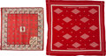 Political:Textile Display (1896-present), Theodore Roosevelt: Pair of 1912 Bandannas.... (Total: 2 Items)
