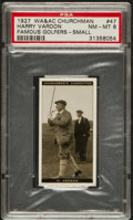 Golf Cards:General, 1927 WA & AC Churchman Harry Vardon #47 PSA NM-MT 8....