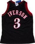 Basketball Collectibles:Uniforms, Allen Iverson Signed Philadelphia 76ers Jersey....