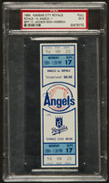 Baseball Collectibles:Tickets, 1984 Reggie Jackson 500th Home Run Full Ticket, PSA EX 5....