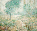 Fine Art - Painting, American, ERNEST LAWSON (American, 1873-1939). Landscape with Trees. Oil on canvas. 20-1/4 x 24-1/4 inches (51.4 x 61.6 cm). Signe...