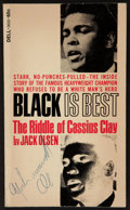"""Boxing Collectibles:Autographs, Muhammad Ali Signed """"Black is Best"""" Paperback Book...."""