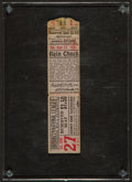 Baseball Collectibles:Tickets, 1931 Brooklyn Robins vs. St. Louis Cardinals Full Ticket....
