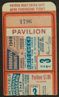 Baseball Collectibles:Tickets, 1949 World Series Game 3 Ticket Stub - Yankees vs. Dodgers....