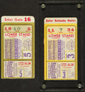 Baseball Collectibles:Tickets, 1941 World Series Game 3 and Game 5 Ticket Stubs lot of 2 - Yankeesvs. Dodgers....