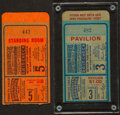 Baseball Collectibles:Tickets, 1947 World Series Game 3 and 5 Ticket Stubs Lot of 2 - Yankees vs.Dodgers....