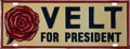 Political:3D & Other Display (1896-present), Franklin D. Roosevelt: Desirable Rebus License Plate....