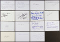 Autographs:Index Cards, Sports Stars Signed Index Cards With Lengthy Inscriptions Lot Of15....