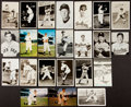 Baseball Collectibles:Others, Baseball Greats Signed and Unsigned Photographs and Postcards Lotof 18....