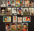 Baseball Cards:Autographs, 1950's Baseball Stars Signed Cards Lot of 21....