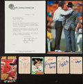Football Collectibles:Others, Football Notables Signed Memorabilia Lot of 8....