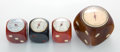 Decorative Arts, French:Other , FOUR FRENCH BAKELITE THERMOMETERS . Various makers, French, circa1935. Marks to two at left: ROLUX, (to third from left...(Total: 4 Items)