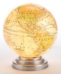 Other:European, A FRENCH ILLUMINATED ELECTRIC GLOBE . Maker unknown, French circa1930. 9-3/8 inches high (23.7 cm). ...