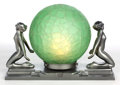 Miscellaneous:Lamps & Lighting, A FRANKART PATINATED METAL AND GLASS FIGURAL LAMP . Frankart, Inc.,New York, New York, circa 1930. Marks: FRANKART INC., ...