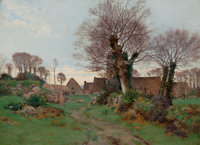 HENRY ORNE RYDER (American, 1860-1940) Road to a Breton Village, 1889 Oil on canvas 16 x 22 inche