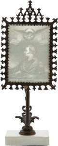 Political:3D & Other Display (pre-1896), Zachary Taylor: Lithophane and Stand....