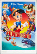 """Movie Posters:Animation, Pinocchio (Buena Vista, R-1992). One Sheet (27"""" X 40""""). DS Style A.Animation.. ..."""