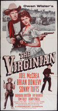 """Movie Posters:Western, The Virginian (Paramount, R-1956). Three Sheet (41"""" X 77.5"""" afterthe two pieces were joined). Western.. ..."""
