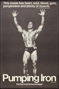 "Movie Posters:Documentary, Pumping Iron (Cinema 5, 1977). Poster (29.5"" X 45""). Documentary.. ..."