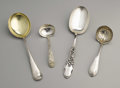 Silver Flatware, American:Other , A Group of American Silver Serving Pieces. Various makers,American. Late Nineteenth and Early Twentieth Centuries. Silver...(Total: 4 )