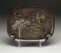 Silver Holloware, American:Trays, An American Mixed Metal Tray. Gorham Manufacturing Company,Providence, Rhode Island. 1882. Patinated copper, brass and si...