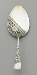 "Silver Flatware, American:Gorham, An American Silver Cake Server. Gorham Manufacturing Company,Providence, Rhode Island. Circa 1885. ""Persian"" style patt..."