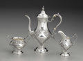 Silver Holloware, American:Tea Sets, An American Silver Three Piece Tea Service . Gorham ManufacturingCompany, Providence, Rhode Island. 1950. Silver and ivor... (Total:3 )