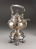 Silver & Vertu:Hollowware, An American Silver Hot Water Kettle on Stand with Burner. Gorham Manufacturing Company, Providence, Rhode Island. Made b...