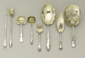 Silver Flatware, American:Other , A Group of American Silver Serving Pieces. Various makers,American. Late Nineteenth and Early Twentieth Centuries. Silver...(Total: 9 )