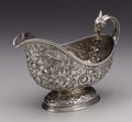 Silver Holloware, American:Sauce Boats, An American Silver Sauce Boat. Tiffany & Co., New York, NewYork. 1875-1876. Silver. Marks: Tiffany & Co. / 4123 Makers...