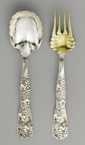 "Silver Flatware, American:Tiffany, An American Silver Serving Spoon and Fork. Tiffany & Company,New York, New York. Circa 1890. ""Grapevine"" pattern, silve...(Total: 2 Items)"
