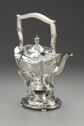Silver Holloware, American:Hot Water Kettles , An American Silver Hot Water Kettle on Stand. Unknown maker,American. Retailed by Theodore B. Starr, Inc., New York, New ...