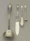 Silver Flatware, American:Whiting, Four American Silver Serving Pieces. Whiting Manufacturing Company,Providence, Rhode Island. c. 1875. Silver, gilt. Marks... (Total: 5)