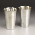 Silver Holloware, American:Cups, A Pair Of American Silver Tumblers. The Kalo Shop, Chicago,Illinois. Circa 1944. Silver. Marks: Lowndes / 1944,Ste... (Total: 2 )