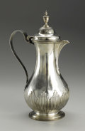 Silver Holloware, British:Holloware, A George III Silver Hot Water Jug. Unknown maker, London, England.1776-77. Silver. Marks: (lion passant), (leopard's hea...