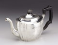 Silver Holloware, British:Holloware, A George III Silver Teapot . Thomas Holland II, London, England.1811-12. Silver, ebonized wood. Marks: (lion passant), (...
