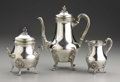 Silver Holloware, Continental:Holloware, A French Silver Three Piece Tea Set . Unknown maker, France. 20thcentury. Silver, silver gilt. Marks: cc, (three sta...(Total: 3 )
