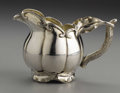 Silver Holloware, Continental:Holloware, A Russian Silver Creamer. Unknown maker, St. Petersburg, Russia.1855. Silver and silver gilt. Marks: (assay mark for Alek...