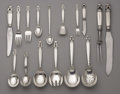 Silver Flatware, Continental:Flatware, A Danish Silver Flatware Service. Georg Jensen, Copenhagen,Denmark. Designed 1915. Silver and stainless steel. Marks: ...(Total: 66 Items)