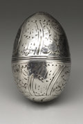 Silver Smalls:Other , A George III Silver Nutmeg Grater. Unknown maker, possibly London,England. Circa 1790. Silver and steel. Unmarked. 1.5 in...