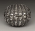 Silver Smalls:Other , A Victorian Silver Nutmeg Grater. Hilliard & Thomason,Birmingham, England. 1852-53. Silver and steel. Marks: (lionpass...