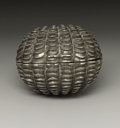Silver Smalls:Other , A Victorian Silver Nutmeg Grater. Hilliard & Thomason,Birmingham, England. 1854-55. Silver and steel. Marks: (lionpass...