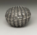 Silver Smalls:Other , A Victorian Silver Nutmeg Grater. Hilliard & Thomason,Birmingham, England. 1865-66. Silver and steel. Marks: (lionpassa...
