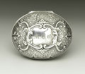 Silver Smalls:Other , A Continental Silver Nutmeg Grater. Unknown maker, Continental.Nineteenth Century. Silver and steel. Unmarked. 2 in. long...