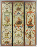 Fine Art - Painting, European:Antique  (Pre 1900), A Set of Six French Tapestry Cartoons from Les Douze Mois Grotesques. Attributed to Claude Audran III (French, 1658-17... (Total: 6 Items)