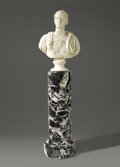 Fine Art - Sculpture, European:Antique (Pre 1900), A German Neo-classical Marble Bust. Attributed to Christian DanielRauch (1777-1857), Berlin, Germany. Circa 1850. Marble...